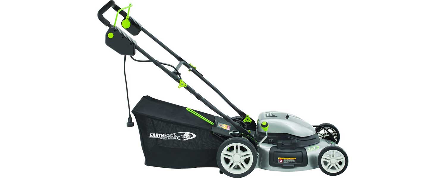 earthwise 50220 electric lawn mower review a quieter. Black Bedroom Furniture Sets. Home Design Ideas